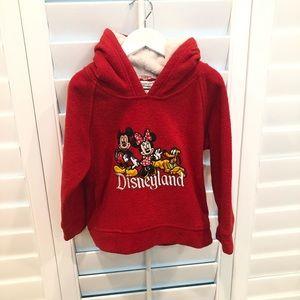 Disney Girl's Red Fleece Disneyland Hoodie Size 3T